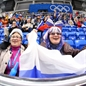 SOCHI, RUSSIA - FEBRUARY 9: Russian fans attends to the game opposing team Russia and team Germany during women's preliminary round action at the Sochi 2014 Olympic Winter Games. (Photo by Andre Ringuette/HHOF-IIHF Images)